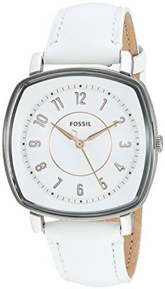 Fossil Womens Idealist Quartz Stainless Steel and Leather Casual Watch ColorWhite Model ES4216 ** To view further for this item, visit the image link. Note: It's an affiliate link to Amazon