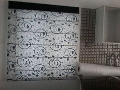 Roman Blinds with Contrasting Border