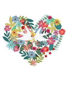 Ilustración de La Mottora para tu cuento personal. Tu Cuento Personal. Servicios de narración y redacción de historias personales. Escribo tu historia. #Ilustración #diseño #corazon #flores #flowers
