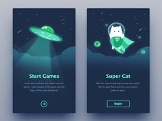 Super Cat – Design is art App Ui Design, User Interface Design, Game Design, Branding Design, Mobile App Design, Mobile Ui, Applications Mobiles, Wireframe, 404 Pages