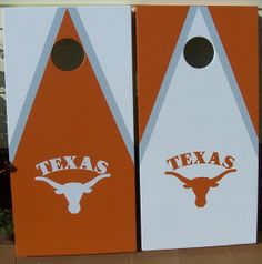 Hand Painted Texas Longhorn Cornhole Boards by mkhew2 on Etsy, $210.00