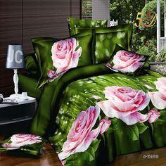 2016 4Pcs 3D Bedding Sets Car Tiger Flowers Bedding-set Bed Sheets King Size Pillow Duvet Cover Bedclothes No Cotton Comforter