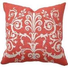 salmon colored throw pillows