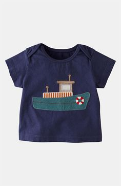 Mini Boden 'Vehicle Appliqué' T-Shirt (Infant) available at #Nordstrom