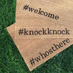Welcome mat. Hand painted custom funny by NickelDesignsShop