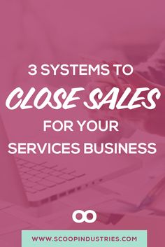 Systems aren't always sexy - but you know that is? Making sales! *Pin this post to check out our recommendations for three sales systems you can implement to book more clients* via @scoopindustries