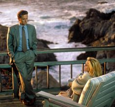 Still from Basic Instinct. I watch this movie simply to drool over the beach house. It is located in Carmel Highlands.