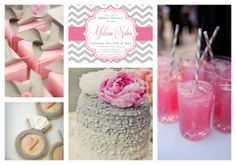 Haute Chocolate - Calgary Party Styling and Custom Party Decor: Pink & Gray Wedding Ideas