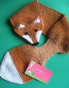marico's Fox scarf # 2 – marinoie tricot no Ravelry scarf # … - Crochet Baby Knitting Patterns, Diy Knitting Scarf, Diy Crafts Knitting, Hand Knit Scarf, Knitting For Kids, Crochet Scarves, Knitting Projects, Crochet Projects, Hand Knitting