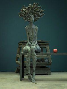 I miss you : Valérie Hadida - I miss you - 144 x 101 x 62 cm - Bronze - 2018 Clouds Photography, Art Photography, Sculptures Céramiques, Art Sculpture, Illusion Fotografie, Graffiti Murals, Oeuvre D'art, Vintage Photography, Cool Artwork