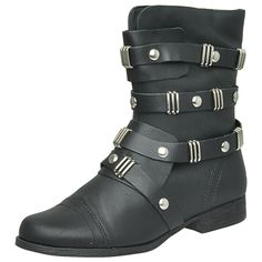 Coturno Preto Punk Dakota B4783 #boot #coturno #inverno #kawacki  https://www.kawacki.com.br/Produto/Detalhe/11502/Bota-Dakota-B4783