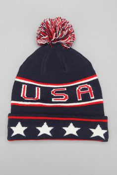 USA Throwback Beanie for my trip to Sochi...have to rep the US.