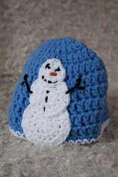 Crochet Korner Crochet Snowman Hat Beanie and by CrochetKorner, $20.00