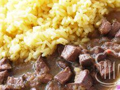 Pečeň - bravčová restovaná Grains, Rice, Beef, Food, Red Peppers, Meal, Essen, Hoods, Ox