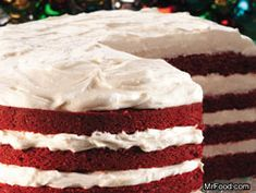 Layered Red Velvet Cake