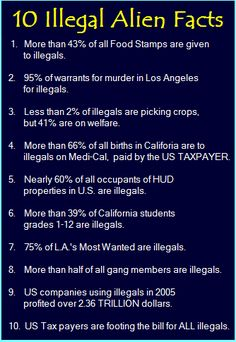 Illegal Aliens--it has to stop, this is ruining our country!