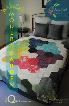 make big hexies in tonal colors?? Image of Grandmother's Modern Garden ~ PDF Quilt Pattern