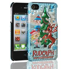 iPhone 4/4S Cover - Rudolph The Red Nosed Reindeer - Rudolph and Santa's Helpers