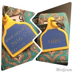 Personalized Lamb/Sheep size ear tag in FFA by ThatllLeaveAMark