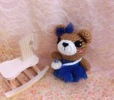 Crochet Amigurumi Bear Animal, Kids Toy, Stuffed Plush Toy Bear, Easter Basket, Gift Ideas/ Ready to Ship