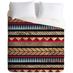 Dot & Bo Backdrop Duvet Cover - King (£125) ❤ liked on Polyvore featuring home, bed & bath, bedding, duvet covers, star bedding and aztec bedding
