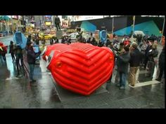Giant Heart Beats in times Square
