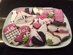 Wedding cookies made by Mandy Soltesz!
