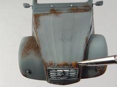 Rusty Civil Car - AMMO of Mig Jimenez