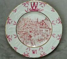 Crown Devon Fieldings Shropshire Women's Institutes WI Plate 1960 -Picking Fruit Womens Institute, Fruit Picking, Devon, Needlework, Badge, Cups, Plate, Crown, Embroidery