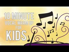 10 Minute Vocal Warm Up for Kids - Free Voice Lessons with Cherish Tuttle Singing Warm Ups, Choir Warm Ups, Voice Warm Ups, Singing Lessons For Kids, Vocal Lessons, Singing Tips, Music Lessons, Vocal Warm Up Exercises, Singing Exercises