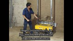 Laser positioing auto rendeirng plastering machine with one person opera...
