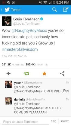 The sass is real! TELL HIM LOUIS