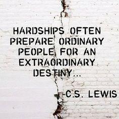 Extraordinary destiny.