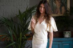 60s and 70s Bohemian Inspired Wedding Dress from the A Piece of My Heart Collection, by Belle & Bunty | Photography by http://www.medialightbulb.com/
