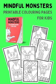 Are you stuck inside? Download your Mindful Monsters colouring pages today! 22 mindful designs for kids. #printables #colouringpages Colouring Pages, Printable Coloring Pages, Coloring Pages For Kids, Coloring Books, Health Talk, Mental Health, Health Blogs, Thing 1, Anxiety Tips