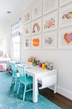 Looking for kids playroom ideas or playroom storage solutions? Today we are looking at some brilliant kids playroom storage ideas. Playroom Design, Playroom Decor, Kids Room Design, Kids Decor, Bonus Room Playroom, Decorating Kids Rooms, Playroom Table, Small Playroom, Modern Playroom
