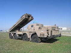 The BM-30 Smerch (Tornado) or 9A52-2 Smerch-M (300mm)  heavy multiple rocket launcher.