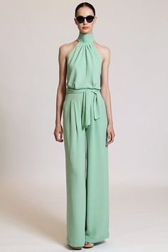 What's not to love about a mint green romper?