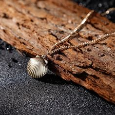Seashell Ariel Mermaid Pendant Necklace Ocean Imitation Pearl Jewelry Drus