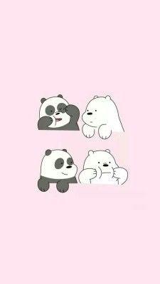 We Bare Bears who is your favourite bear? mine is Ice Bear🙆 Cute Panda Wallpaper, Bear Wallpaper, Kawaii Wallpaper, Screen Wallpaper, Pink Wallpaper Cartoon, We Bare Bears Wallpapers, Panda Wallpapers, Cute Cartoon Wallpapers, Moving Wallpapers