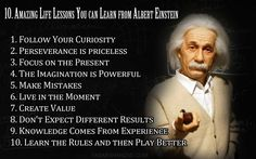 10 amazing life lessons you can learn from Albert Einstein!