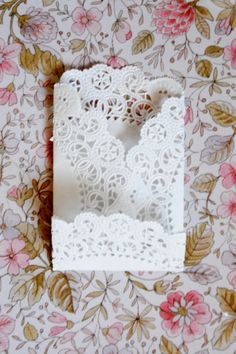 Doily envelopes by Belle Fête