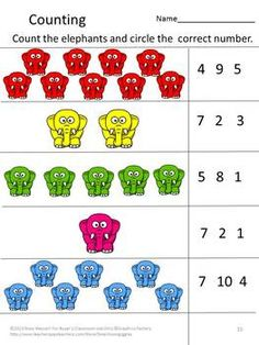 The Circus Is Coming To Town Worksheet set for Pre-K, K and Special Education… Preschool Circus, Circus Activities, Numbers Preschool, Preschool Lessons, Preschool Kindergarten, Math Activities, Preschool Activities, Circus Theme Classroom, Elmer The Elephants