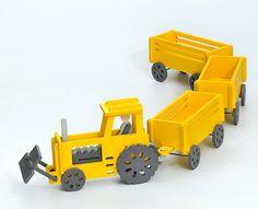 Wooden tractor-trailer