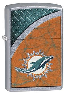 575230352f1 Zippo NFL Miami Dolphins Street Chrome Pocket Lighter