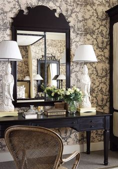 John Jacobs Interiors Lamps have become real focal points in rooms. These dramatic, oversized Blanc de Chine lamps are great examples. Katie Ridder Marjorie Skouras Domino William Haines