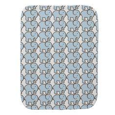 Blue Elephant Burp Cloth
