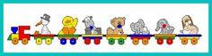 Baby Animal Train Set 1/17