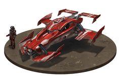 Car Diorama base Picture (2d, sci-fi, vehicle, sport car)