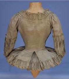 Plaid silk caraco jacket 1770